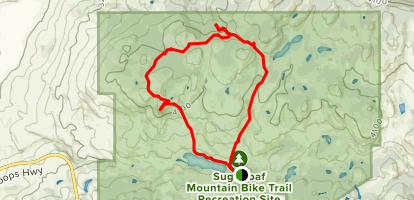 Sugarloaf Mountain via Coco Bonk and Wounded Knee Trail Loop Map