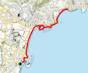 Lavandou Coastal Path Map