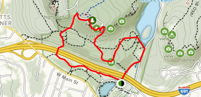 Mirror Lake, White Trail, and Castle Craig Loop Map