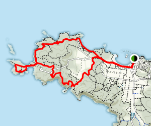 Western Porquerolles Coastal Loop Map