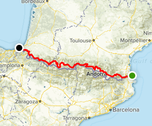 The Pyrenean Way: GR 10 Trail Map