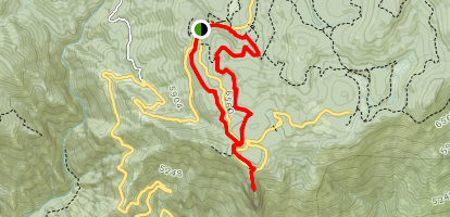 Bear Hill Trail to Moro Rock Trail Loop Map