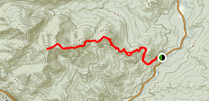 Rocky Peak Ridge from New Russia Map