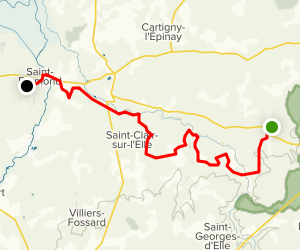 The Abbeys Route: Stage 1 Map