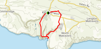 Kingston to Chapmans Pool Map