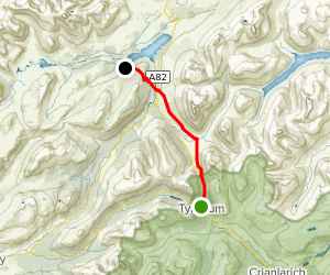 West Highland Way: Tyndrum to Inveroran Map