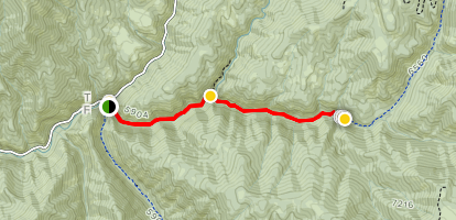 Fifth Water Hot Springs Trail [CLOSED] Map