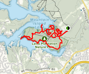 Hill, Shady, Cattail, Buzzard Rock, Laura's and Catawaba Loop Map