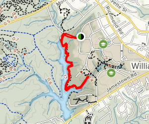 Matoaka Trail (Fit Trail) in College Woods Map
