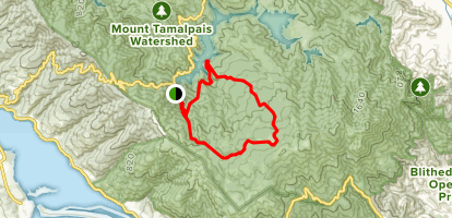 Cataract Trail, Laurel Dell Fire Road, Kent Trail to Serpentine Point and Alpine Lake Map