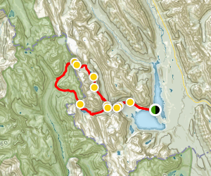 Turbine Canyon to Three Isle Lake Backpacking Loop  Map