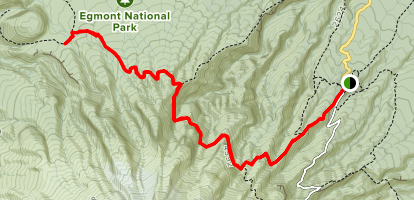 Holly Hut Hike Map