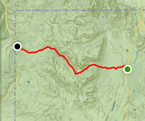 Bighorn Pass Trail from Indian Creek Campground Map