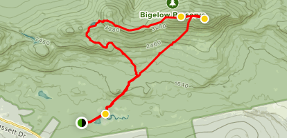 Fire Wardens, Horns Pond and Appalachian Trail Loop Map