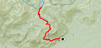 Jackass Lakes Trail Map