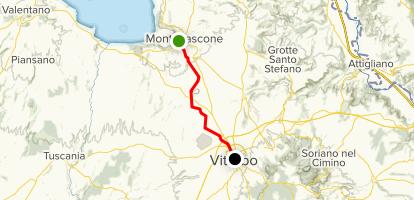 The Via Francigena: Da Montefiascone a Viterbo Map
