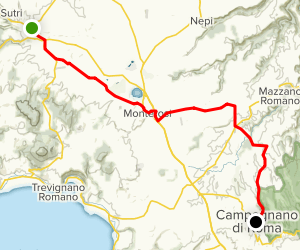The Via Francigena: Da Sutri a Campagnano Map