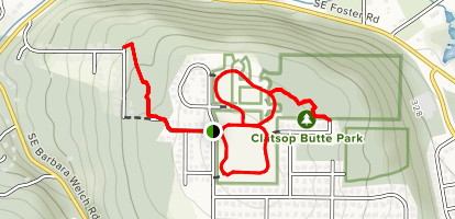 Clatsop Butte Loop Map