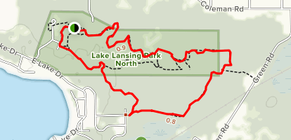 Lake Lansing Trail North: Extended Loop Map