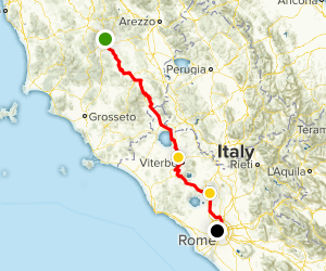 Via Francigena: Siena to Rome Map