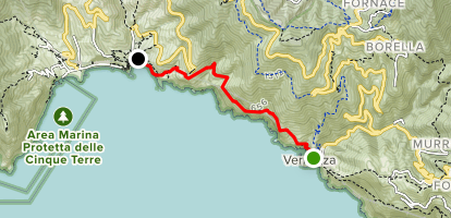 Vernazza to Monterosso Map