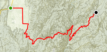 Cascade to Silver Creek via National Forest Road 671 Map