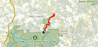 North Country Trail to Jennings Center Map