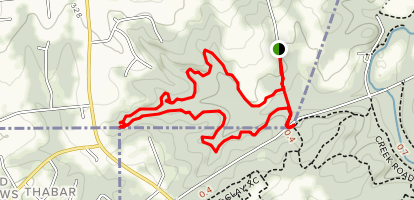 Tri-State Trail to Twin Valley Trail Loop Map