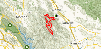 Las Trampas and Rocky Ridge Loop Map
