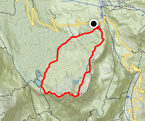 Cavallazza and Laghi Colbricon Loop Map