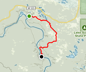 North Country Trail: Lower Falls to Old Stove Map