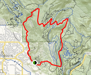 Bonneville Shoreline to Betty to Dry Canyon Loop Map
