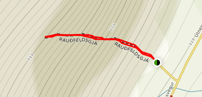 Raudfeldsgjá Trail  Map