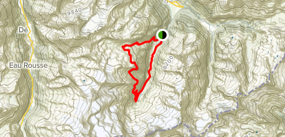 Valnontey, Casolari Herbetet, and Rifugio Sella Loop Map