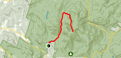 Mount Moosilauke via Tunnel Brook Trail to the Benton Trail  Map