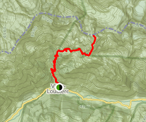 Lake Lautier and Turbat Peak Trail Map