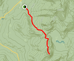 Reel Brook Trail to Mount Wolf Map