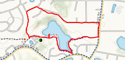 Trapp Farm Park and Schwanze Lake Loop Map