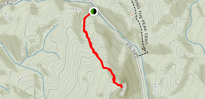 Lower Crags Trail Map