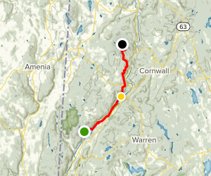 Appalachian Trail: Algo Shelter to Pine Swamp Shelter Map