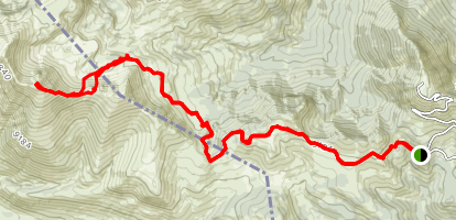 Mount Jefferson via Rock Creek Basin Trail  Map