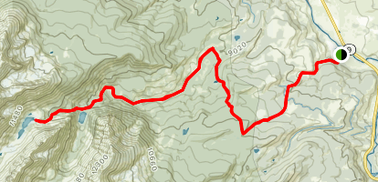 Harrigan Creek Trail to Gore Range Trail to Slate Creek Trail Map