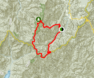 Mount Mitchell to Blue Ridge Parkway to South Toe River Road Map
