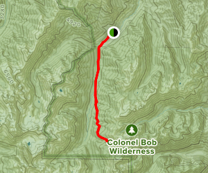 Upper Dungeness Trail to Constance Pass trail Junction Map