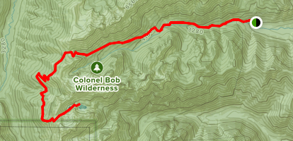 Charilia Lakes via Upper Big Quilcene Trail, Upper Dungeness Trail, and Carlia Lakes Way Trail Map