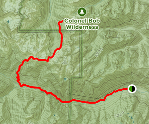 Dosweallips Road to Constance Pass Trail Map