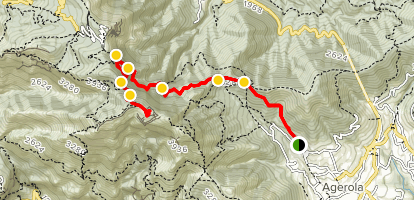 Agerola to Mount Molare Map