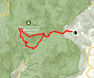 Robertson Mountain via Weakley Hollow and Old Rag Fire Roads Map