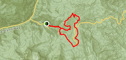Pine Hollow to Willow Hollow to South Fork Little Deer Creek to Ridge Loop Map