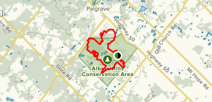 Albion Hills Trail Map